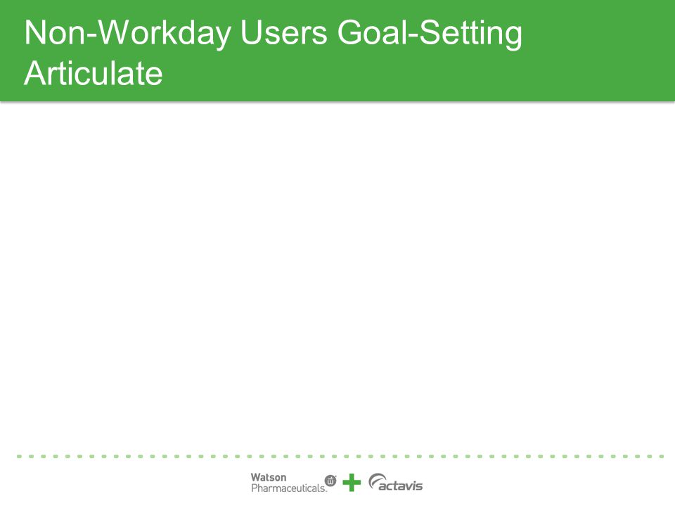 Non-Workday Users Goal-Setting Articulate