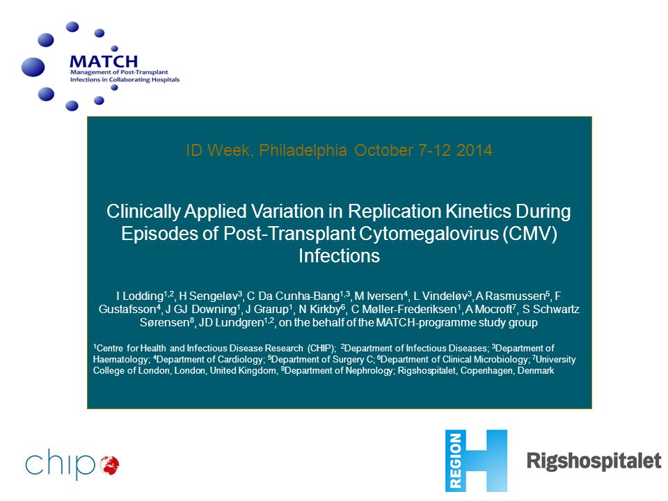 ID Week, Philadelphia October 7-12 2014 Clinically Applied Variation in Replication Kinetics During Episodes of Post-Transplant Cytomegalovirus (CMV)