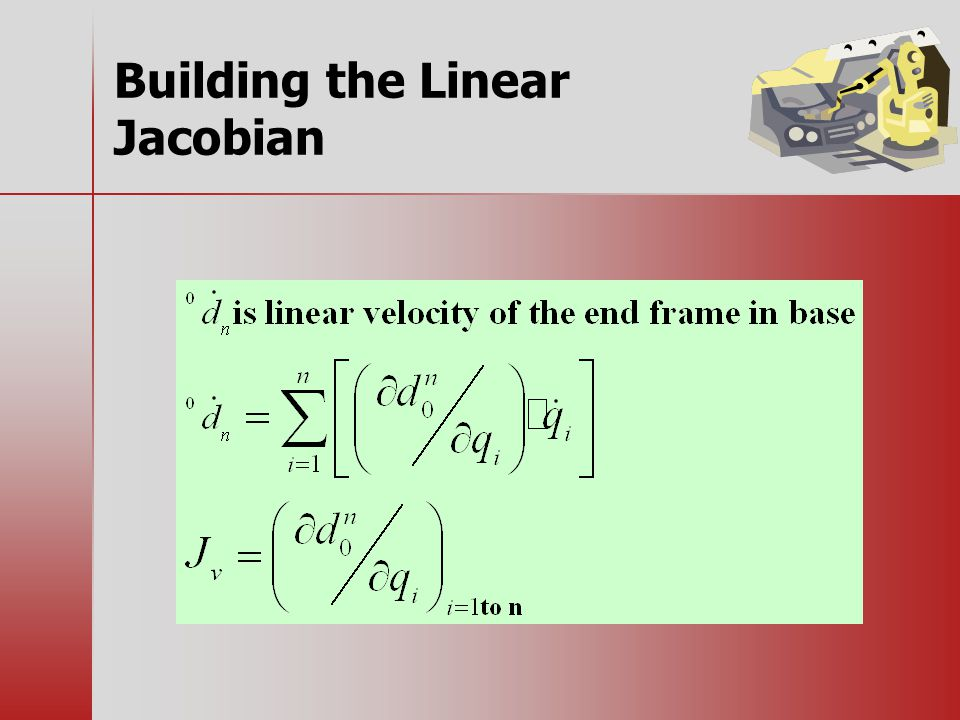 Building the Linear Jacobian