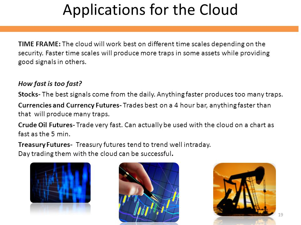 Applications for the Cloud TIME FRAME: The cloud will work best on different time scales depending on the security.