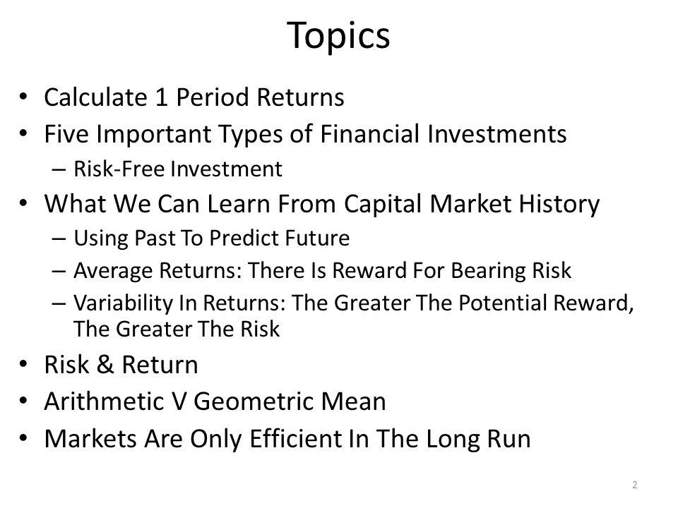 1 Year Percent Return Dividend Yield Capital Gains Yield 3