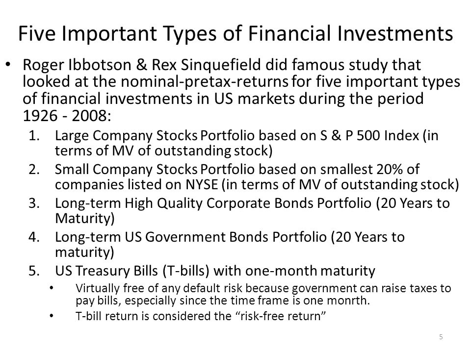 10-36 Risk–Return Tradeoff (Conclusion To Chapter 10) Two key lessons from capital market history: – There is a reward for bearing risk – The greater the potential reward, the greater the risk