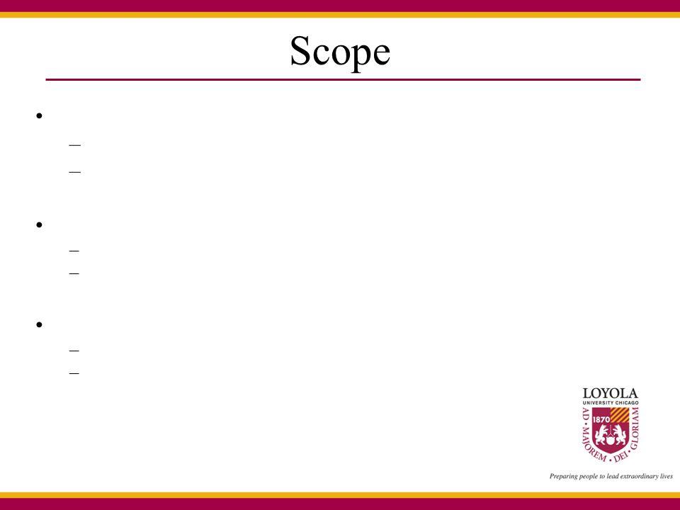 Scope – – –