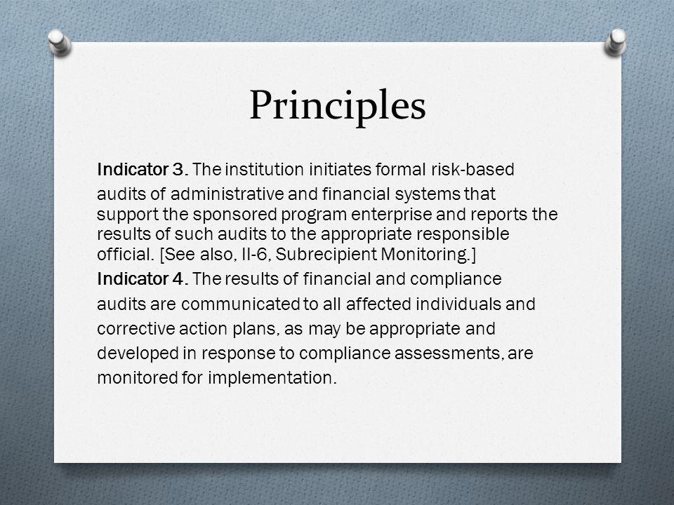 Principles Indicator 3.