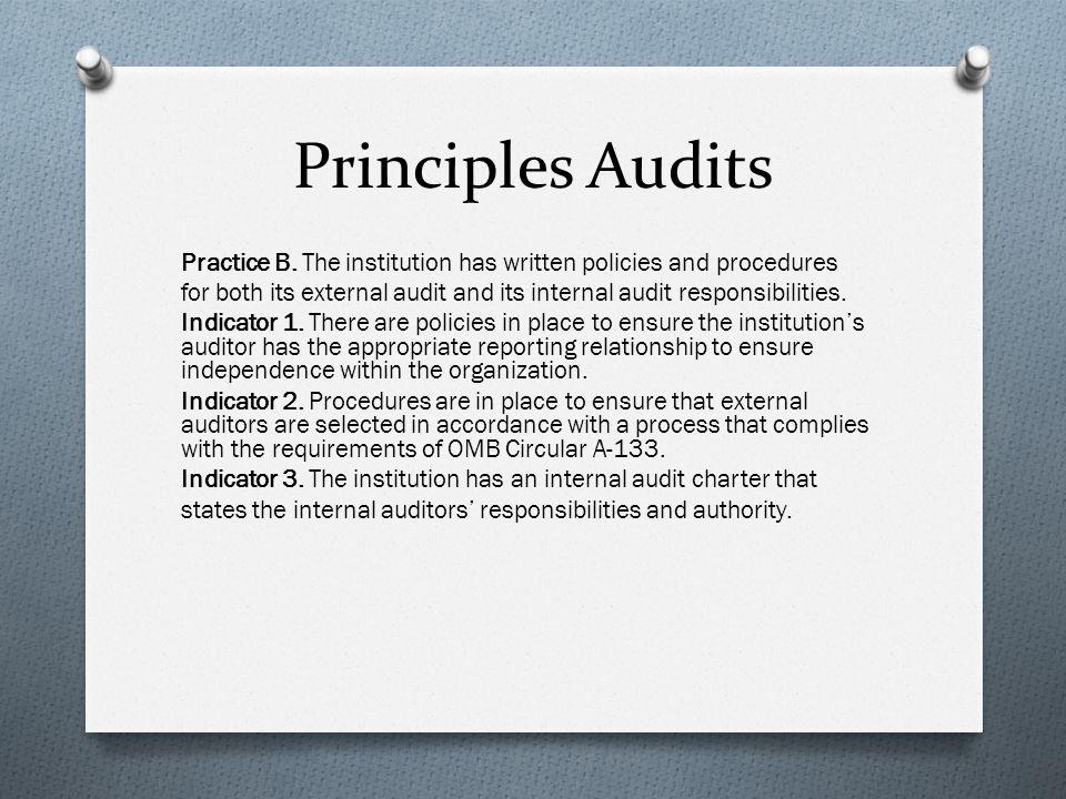 Principles Audits Practice B.