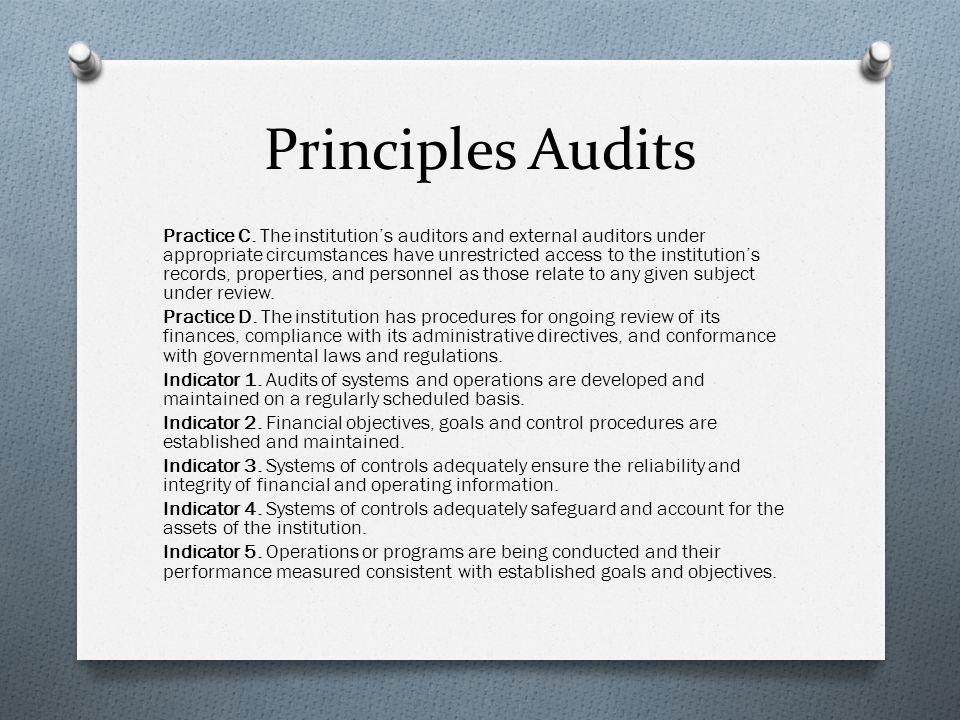 Principles Audits Practice C.