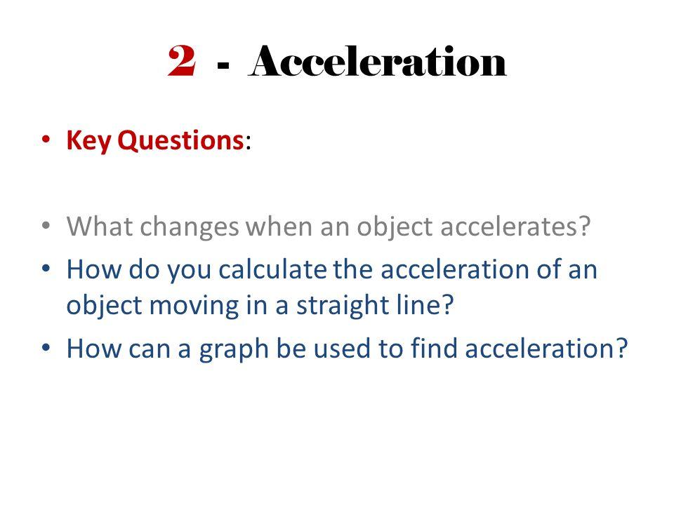 Calculating Acceleration V At
