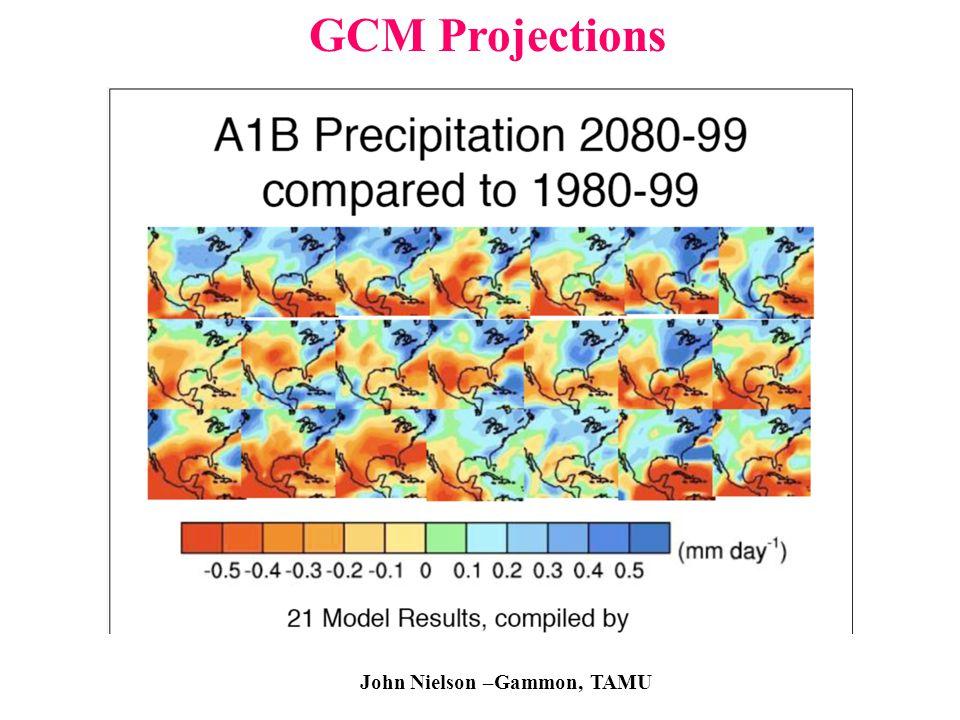 GCM Projections Precipitation Projections John Nielson –Gammon, TAMU