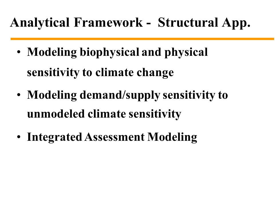 Analytical Framework - Structural App.
