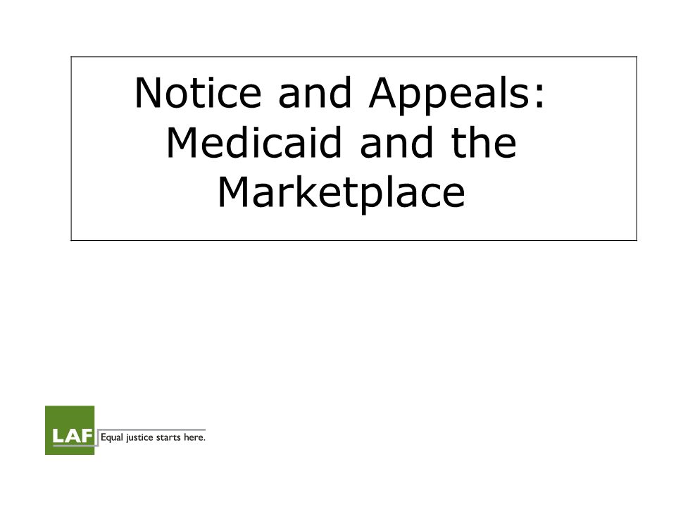 Notice and Appeals Question: What will eligibility notice and appeals processes be for MAGI-Medicaid and Marketplace applicants.