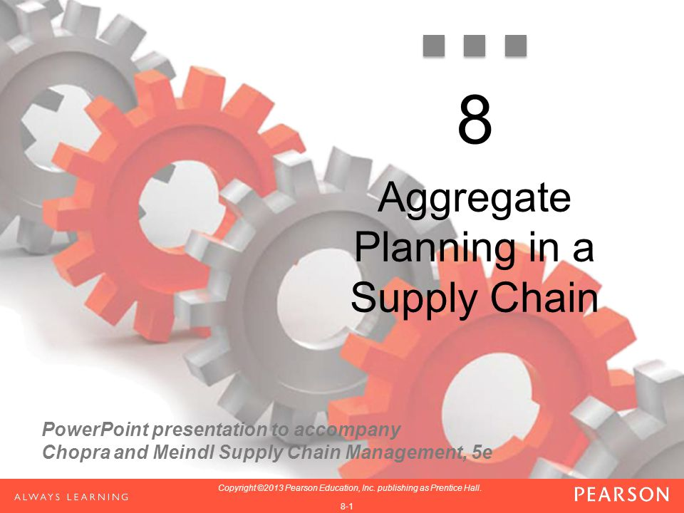 PowerPoint presentation to accompany Chopra and Meindl Supply Chain Management, 5e 1-1 Copyright ©2013 Pearson Education, Inc. publishing as Prentice