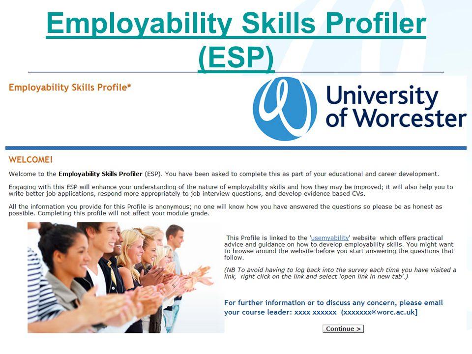 Employability Skills Profiler (ESP)