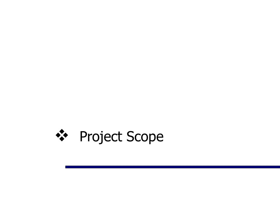  Project Scope