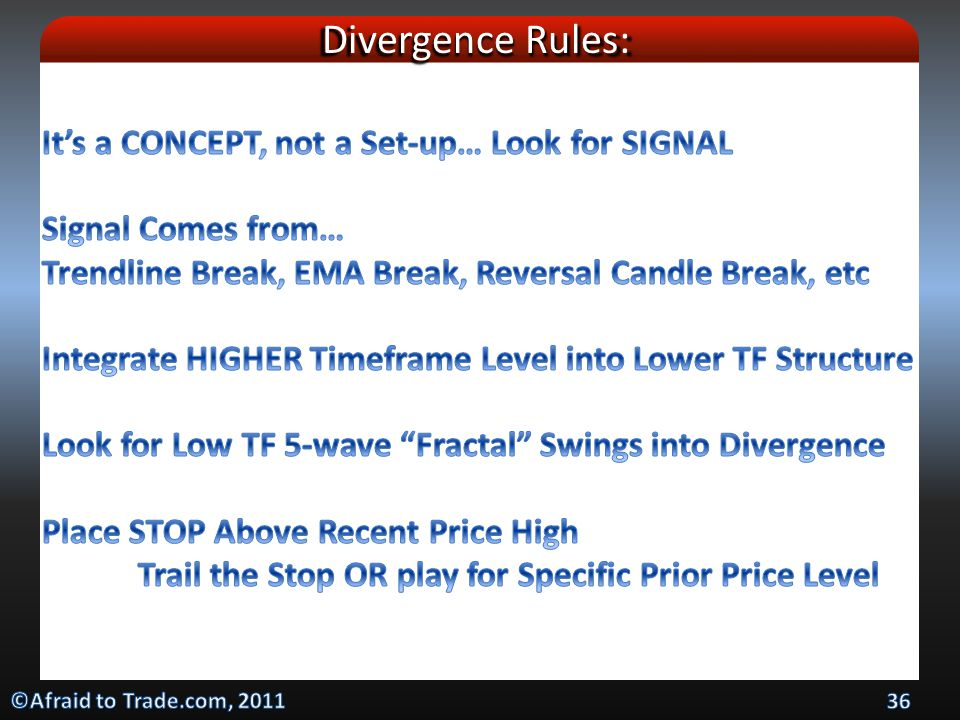Divergence Rules: