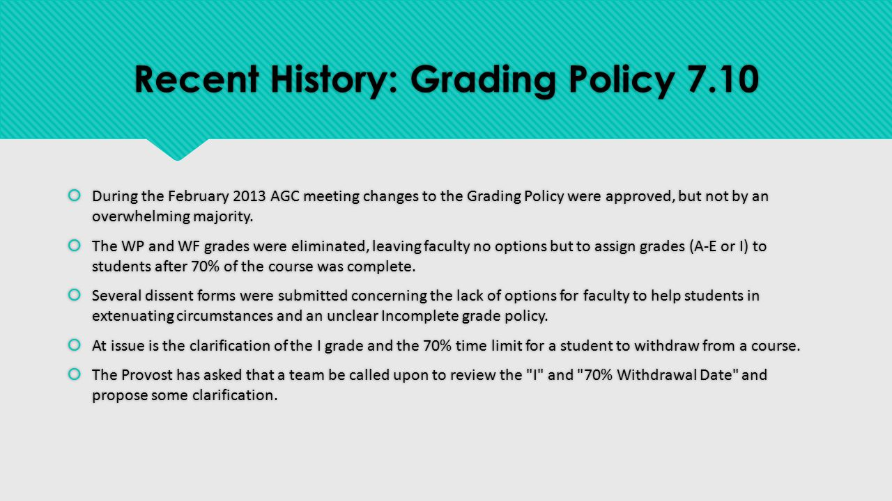 Current GRCC Course Withdrawal Policy Withdrawal Process (W): Students may drop a class and receive a W until the date of 70% of class completion, as noted on the instructor's class roster.