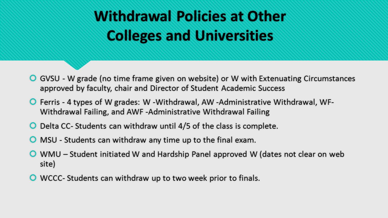 Proposed Change to the Course Withdrawal Policy  Allow students to self-withdraw until the last regular class day.