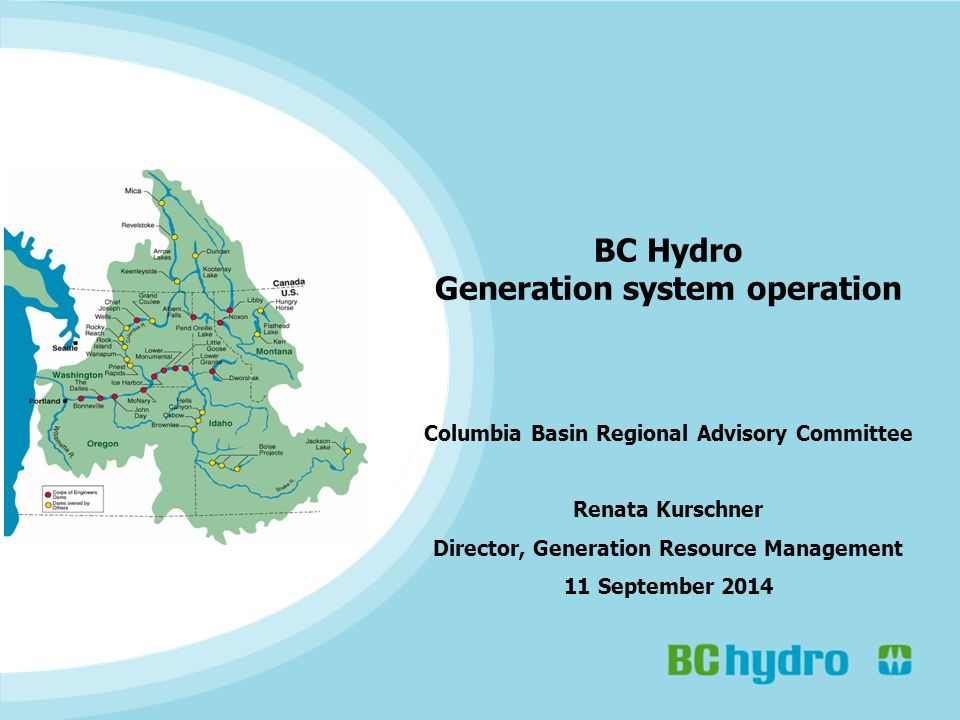 22 Duncan operation – typical drivers BC Hydro system operations Typical CRT & operational drivers: Oct-Dec: discharge limited to manage fish spawning in Duncan River.