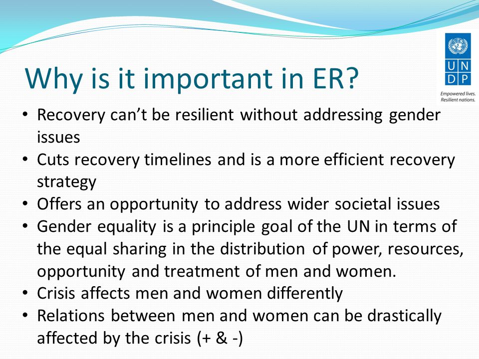 Why is it important in ER.