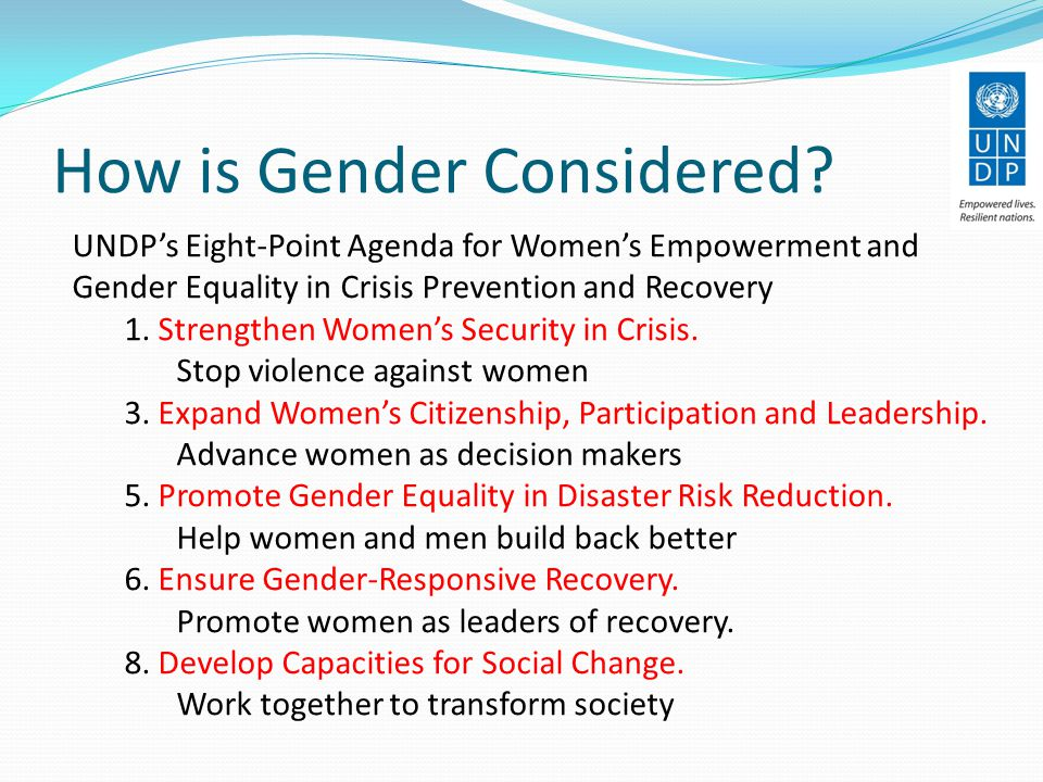 How is Gender Considered.
