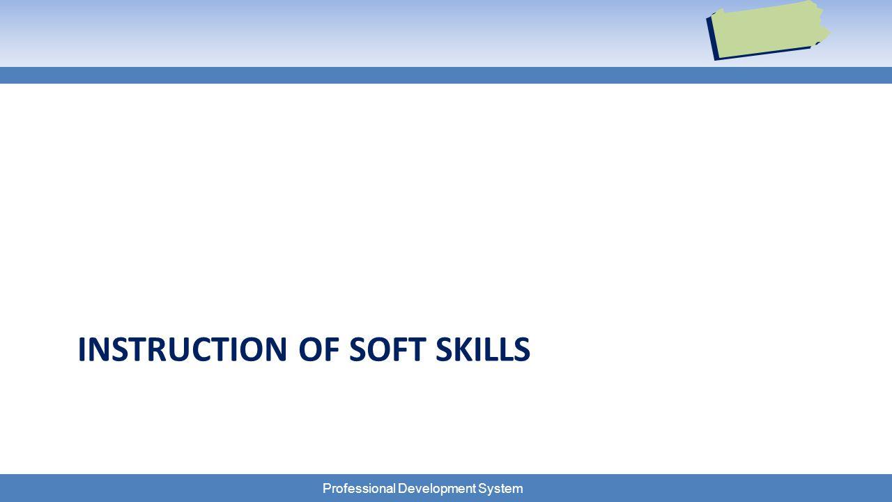Professional Development System INSTRUCTION OF SOFT SKILLS