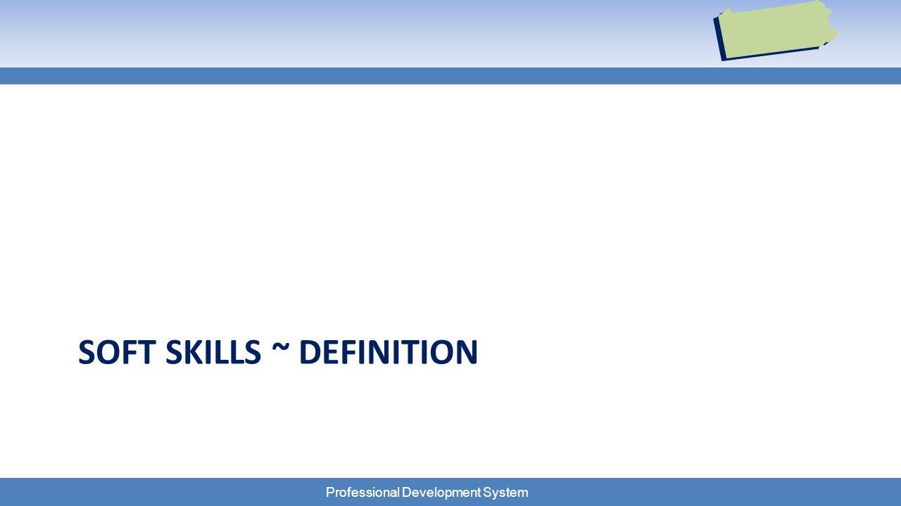 Professional Development System SOFT SKILLS ~ DEFINITION