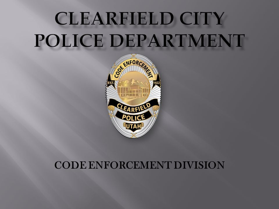 CODE ENFORCEMENT DIVISION