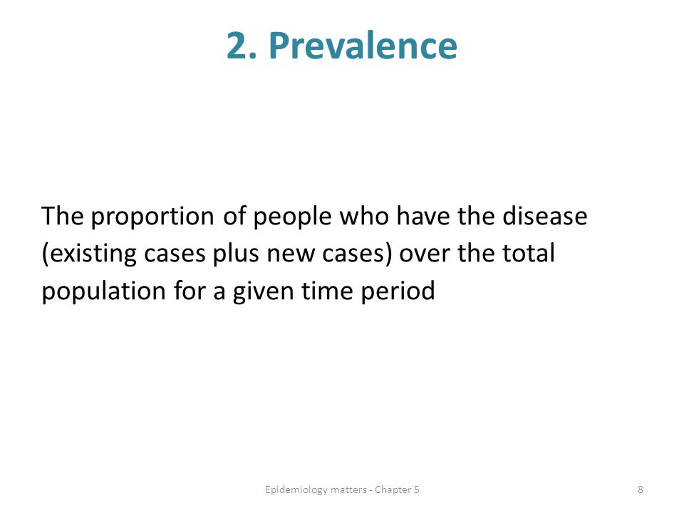 Disease occurrence in a sample of Farrlandia over time Year 1, 5 individuals developed the outcome Year 2, an additional 7 people developed the outcome Year 3, an additional 4 people developed the outcome