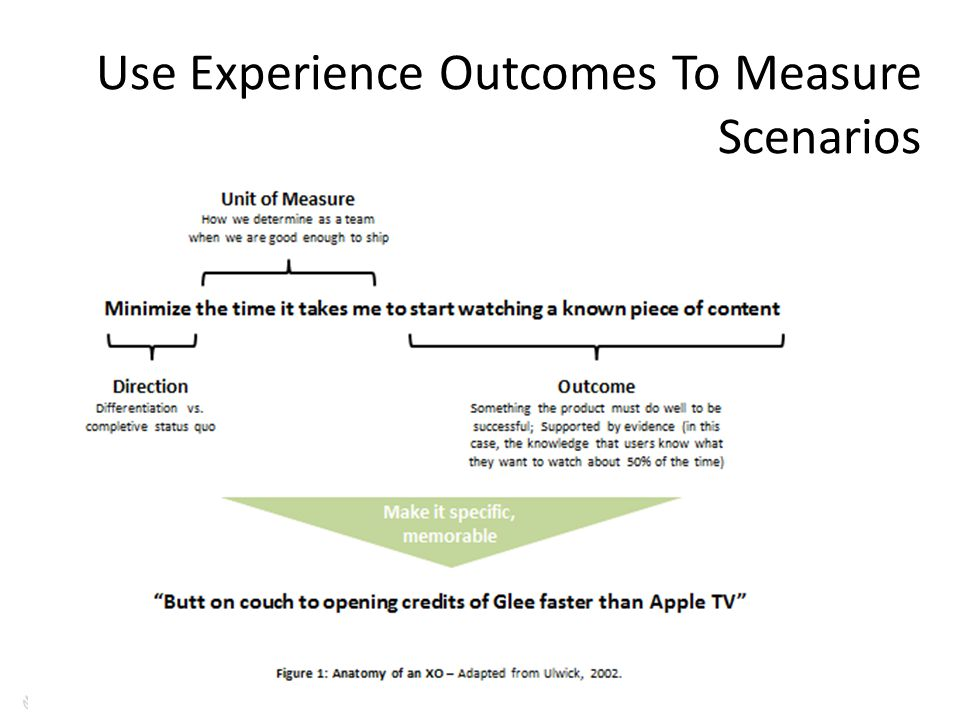 Use Experience Outcomes To Measure Scenarios