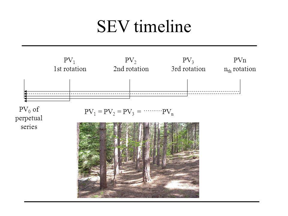 SEV timeline PV 1 1st rotation PV 2 2nd rotation PV 3 3rd rotation PVn n th rotation PV 0 of perpetual series PV 1 = PV 2 = PV 3 = ……… PV n