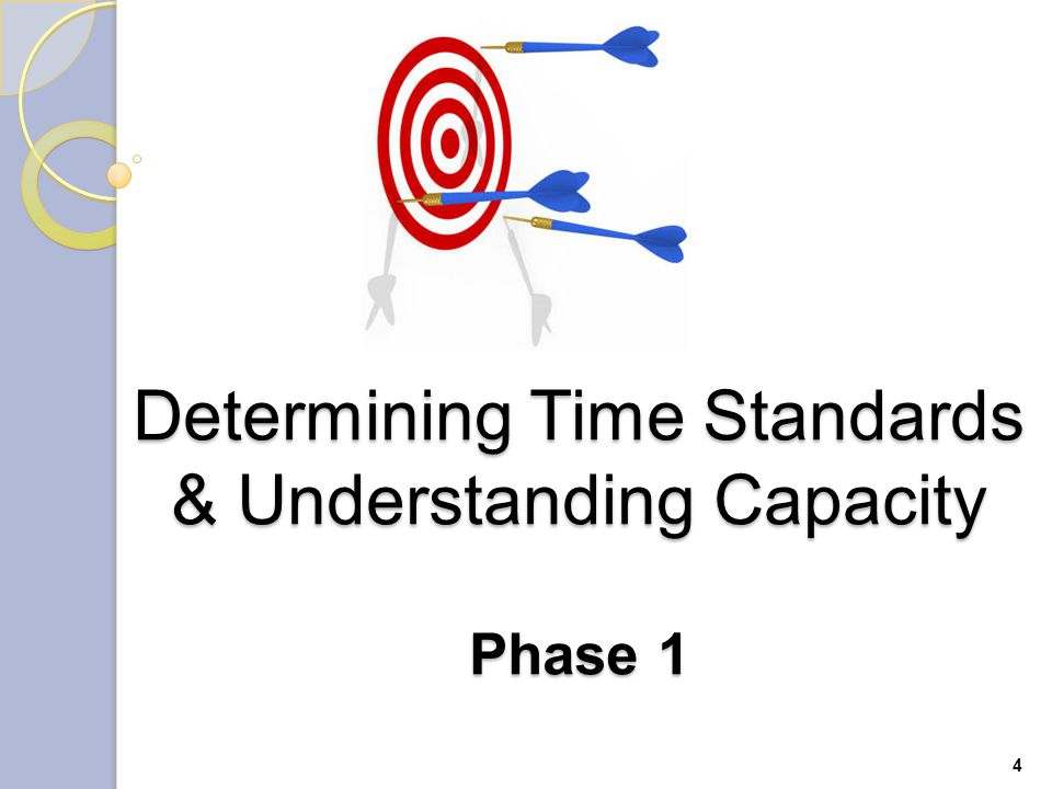 Determining Time Standards & Understanding Capacity Phase 1 4