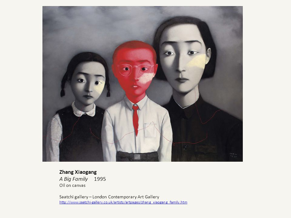 Zhang Xiaogang A Big Family 1995 Oil on canvas Saatchi gallery – London Contemporary Art Gallery http://www.saatchi-gallery.co.uk/artists/artpages/zha