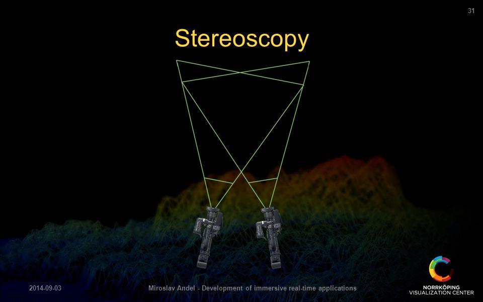Stereoscopy 2014-09-03Miroslav Andel - Development of immersive real-time applications 31