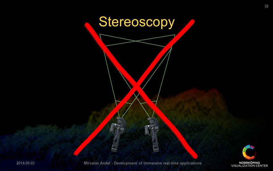 Stereoscopy 2014-09-03Miroslav Andel - Development of immersive real-time applications 32