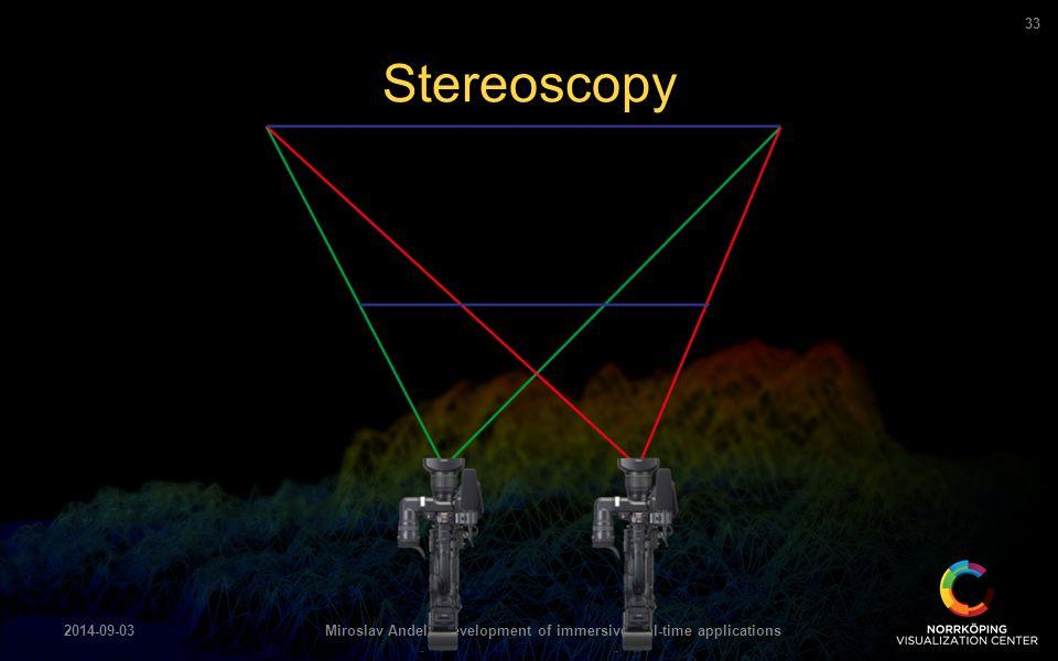 Stereoscopy 2014-09-03Miroslav Andel - Development of immersive real-time applications 33
