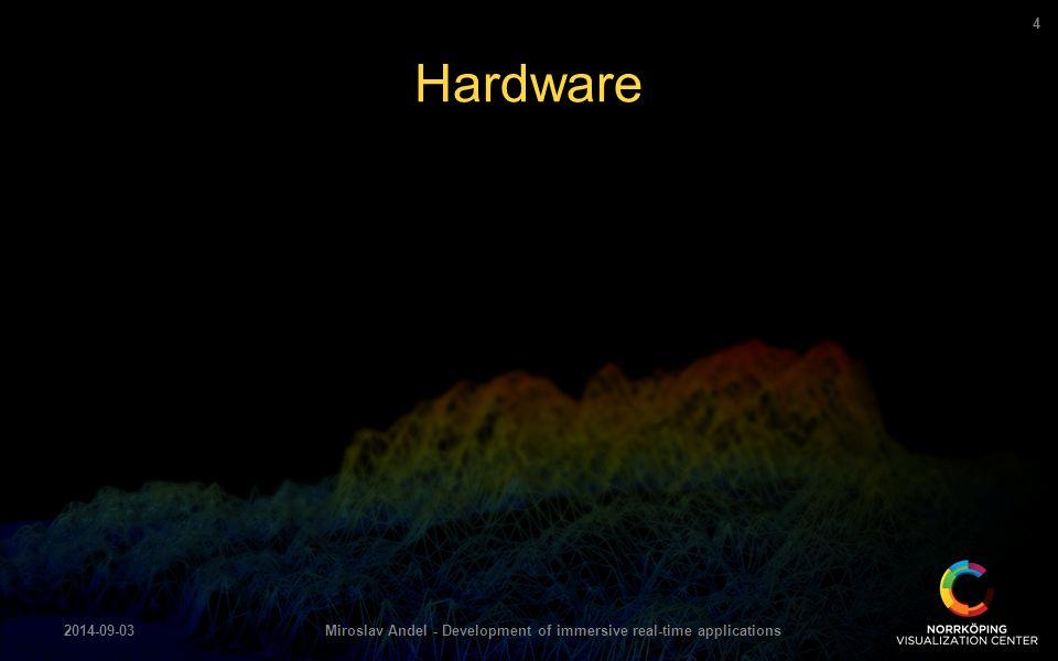 Hardware 2014-09-03Miroslav Andel - Development of immersive real-time applications 4