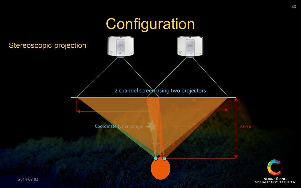 Configuration 2014-09-03 46 Stereoscopic projection