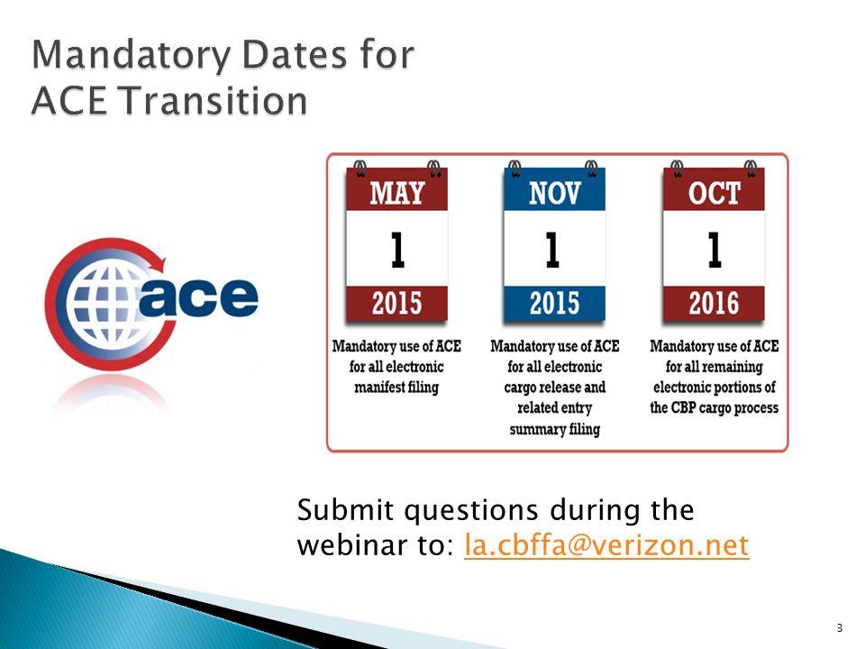 Submit questions during the webinar to: la.cbffa@verizon.netla.cbffa@verizon.net 3