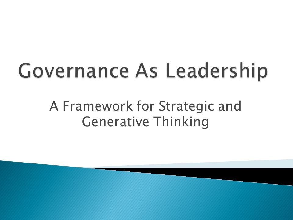 A Framework for Strategic and Generative Thinking