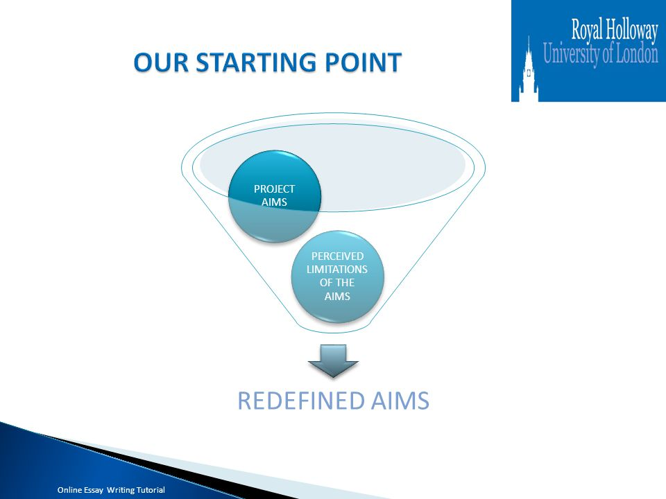 REDEFINED AIMS PERCEIVED LIMITATIONS OF THE AIMS PROJECT AIMS Online Essay Writing Tutorial