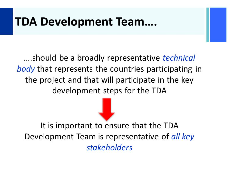 + TDA Development Team….