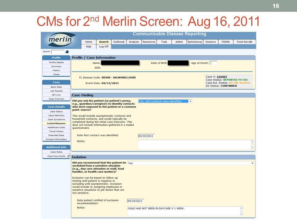 16 CMs for 2 nd Merlin Screen: Aug 16, 2011
