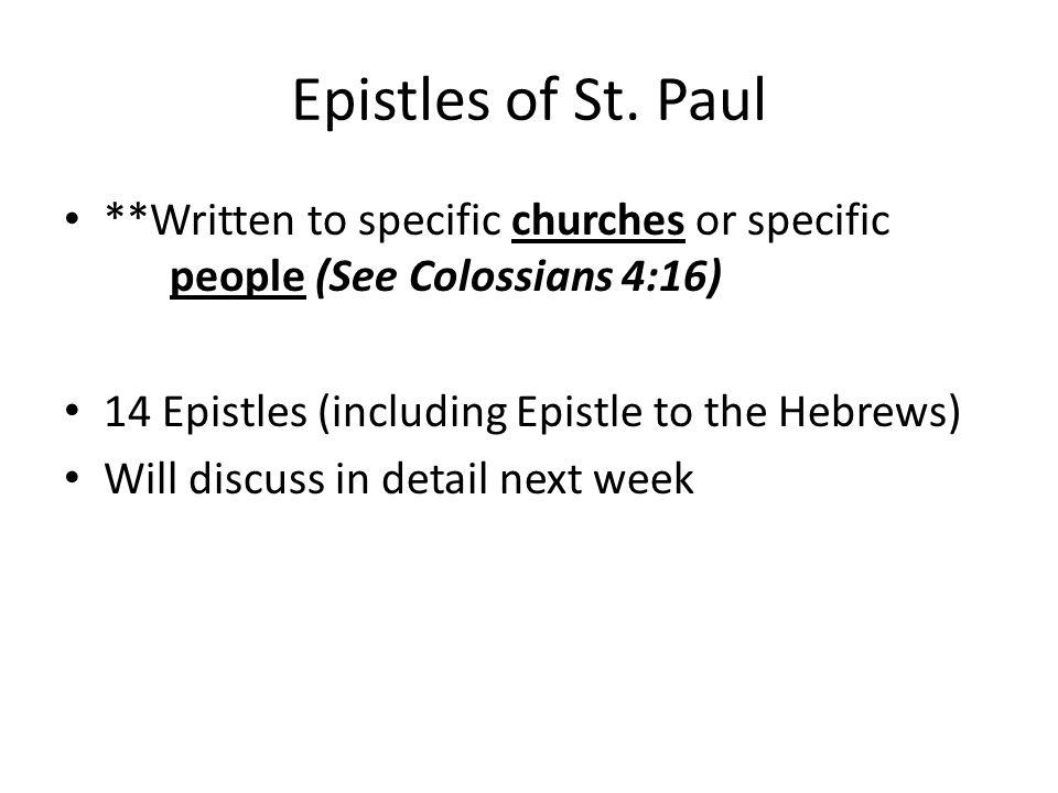 Epistles of St.