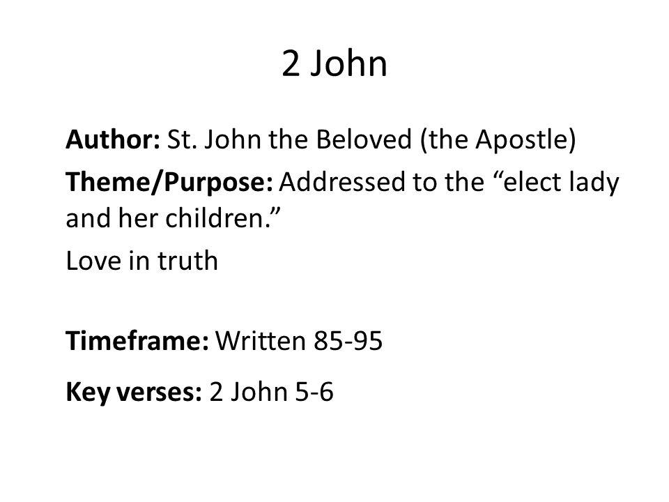 2 John Author: St.