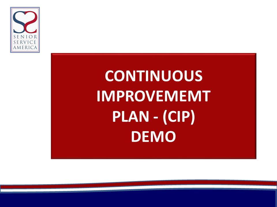 CONTINUOUS IMPROVEMEMT PLAN - (CIP) DEMO
