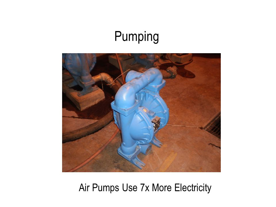 Pumping Air Pumps Use 7x More Electricity