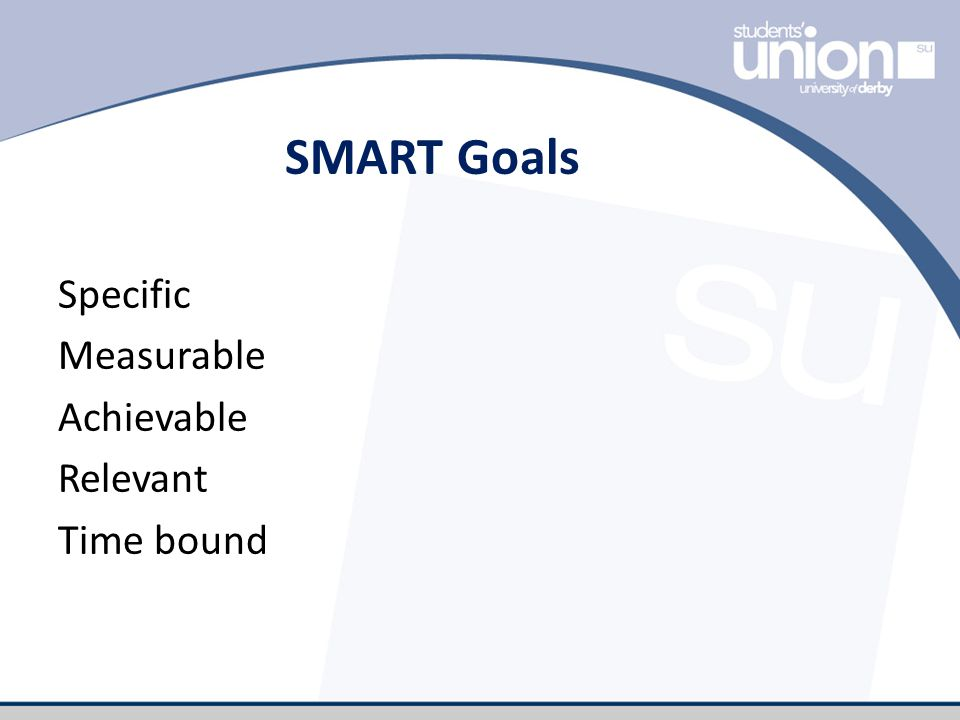 SMART Goals Specific Measurable Achievable Relevant Time bound