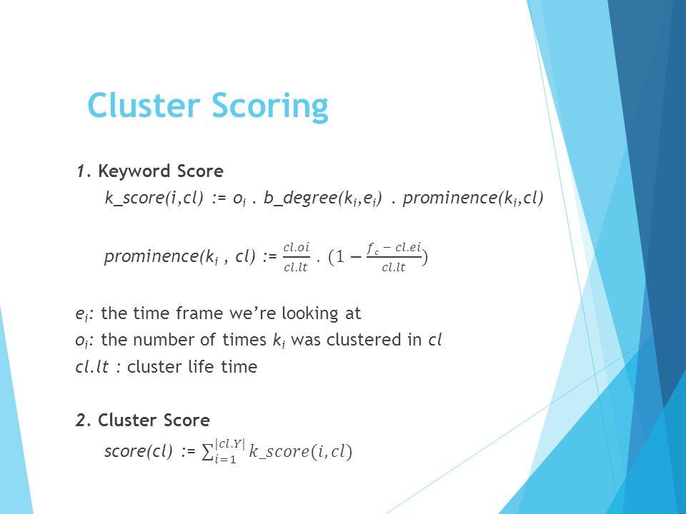 Cluster Scoring