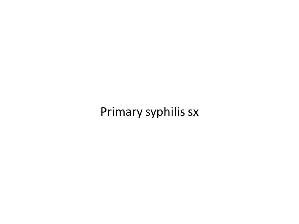 Primary syphilis sx