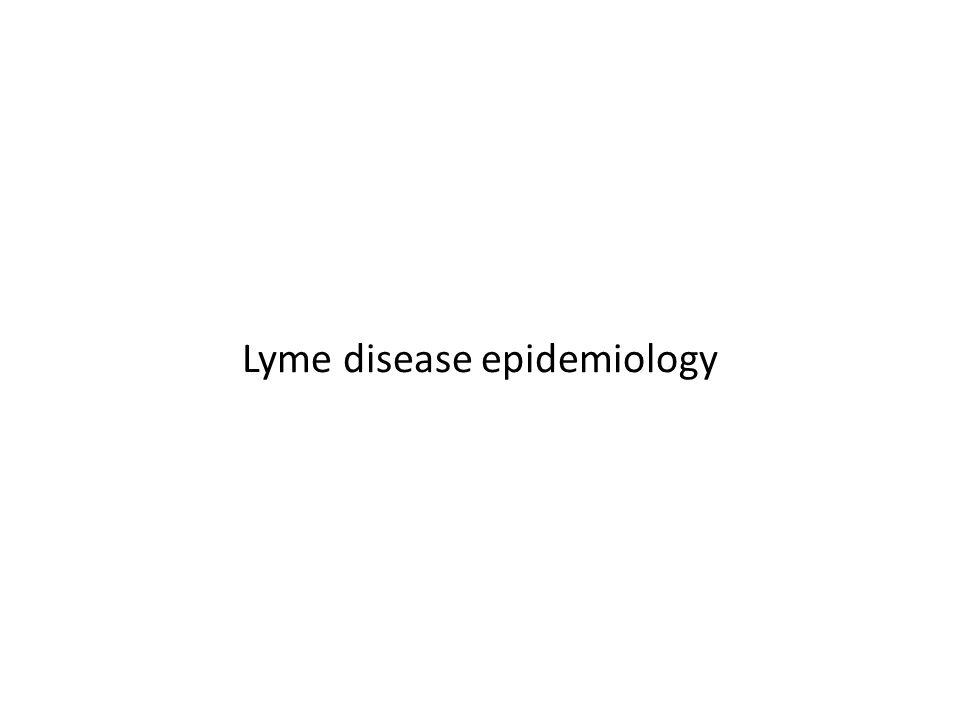Lyme disease epidemiology