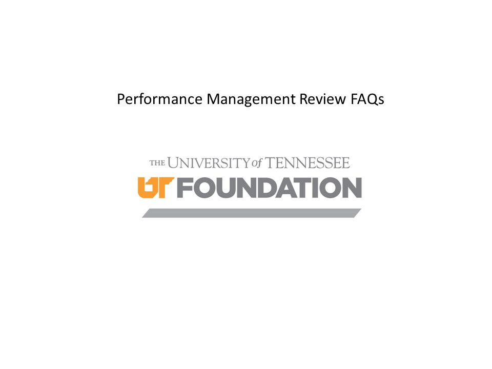 Performance Management Review FAQs